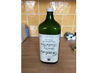 Dark green gin bottle