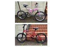 "2 kids, Girls, Boys bikes - 20"" wheel"