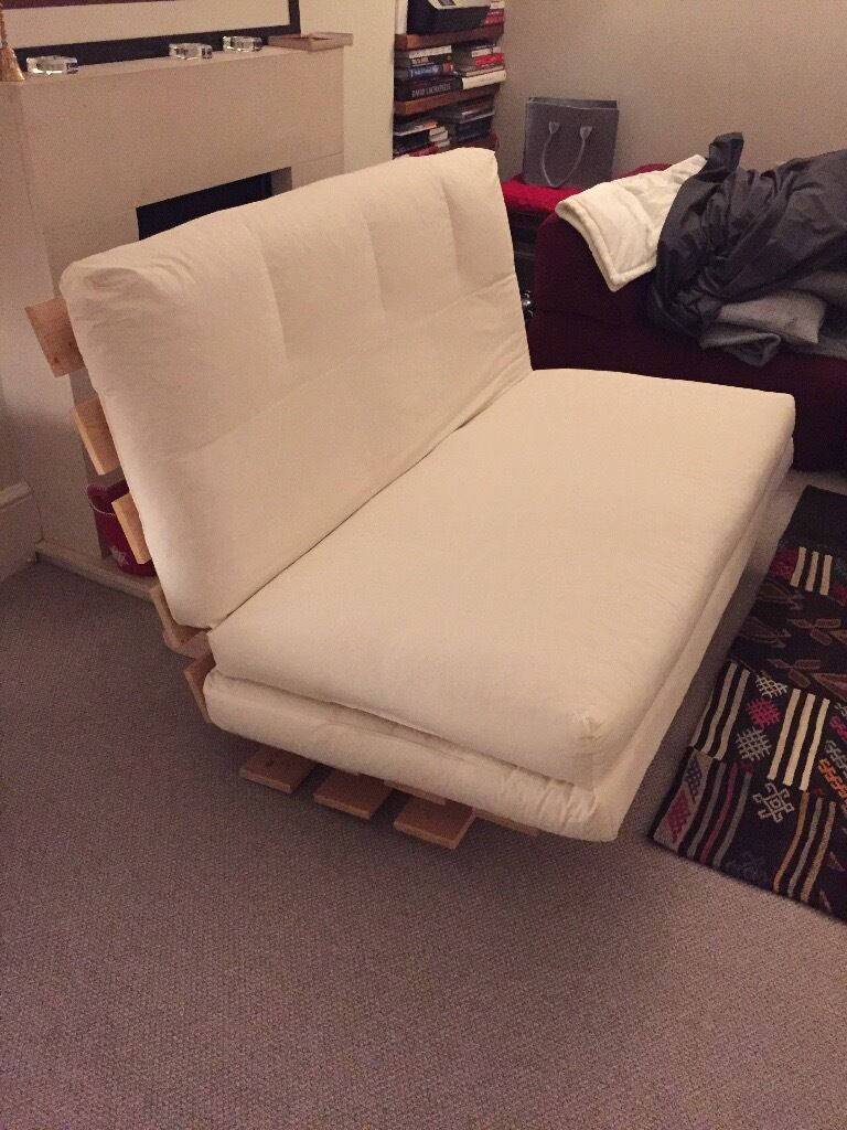 sofa double bed futon with topper in battersea london gumtree