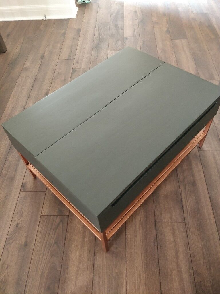 Lomond Lift Top Coffee Table With Storage Grey And Copper In Limehouse London Gumtree