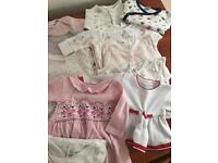 Bundle of baby girls clothes (0-2 months) 40 items