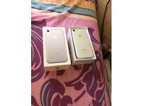 IPhone 7 silver 128gb unlocked boxed with all accessories great condition selling as upgraded