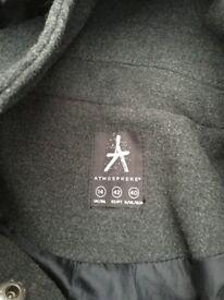 Ladies/Teenagers Coat with hood. Size 14. Charcoal, with toggles. Charcoal, with toggles. C