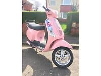 PIAGGIO VESPA LX50 EXCELLENT CONDITION PINK YEARS MOT