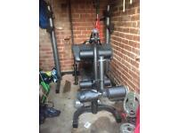 Weider pro 490 DC and weights