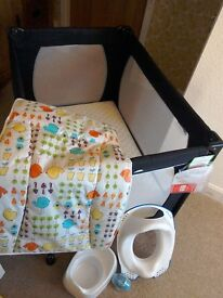 Red Kite Travel Cot Bundle. Excellent condition. £25