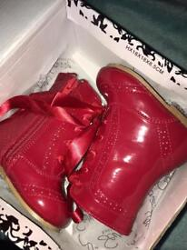 Sevva Exclusive red baby boots