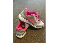 Nike Pink & White Revolution 3 Trainers - UK size 4