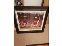 Signed wayne rooney framed picture. Genuine w/COA