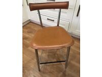 Bar Stools x 4 light brown leather.