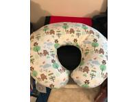 Boppy nursing pillow with cotton cover