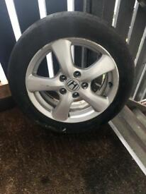 Honda Civic tyre with brand new jack