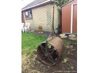 Victorian vintage garden roller