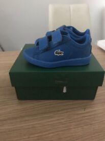Brand new baby Lacoste trainers