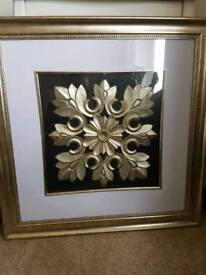 Dunelm framed gold art picture