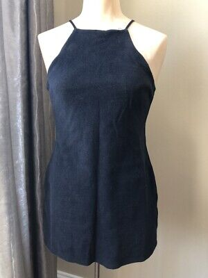 Womens Black Cotton Knit Purrr.. Melrose Sexy Jumper Top/Dress Size  Small