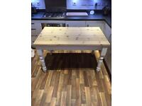 Solid pine farmhouse table. Free delivery