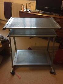 Small grey desk
