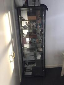 Black and glass display unit
