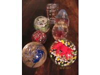 7 x Beautiful Paperweights