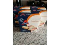 5 boxes of atkins crisbreads