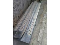 Heavy loading ramps for mini digger etc