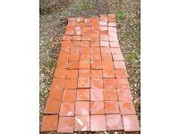 reclaimed red quarry tiles