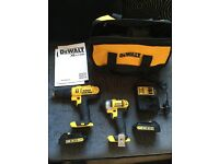 Dewalt hammer drill & impact drill set 18v
