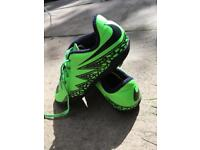 £4 Nike Boys Hyper Venom football trainers Lime Green