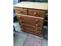 Solid Pine Chest Drawers