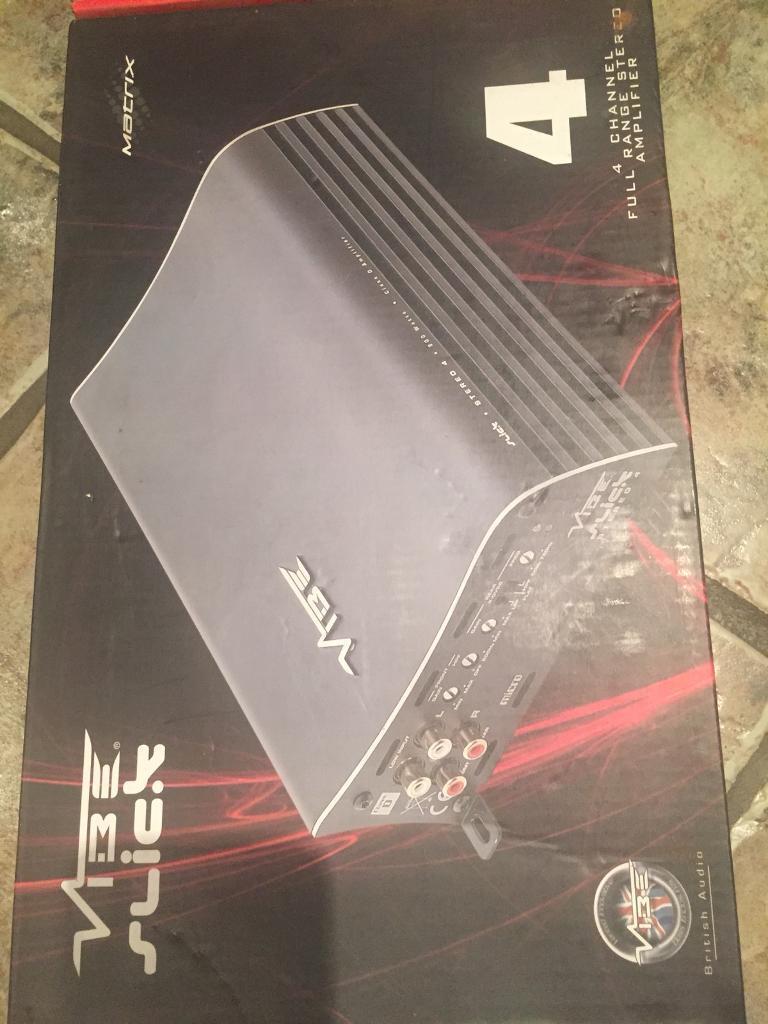 Vibe Slick 4 Amplifier 800 Watts Boxed New