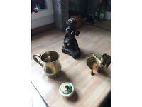 Brass elephant/ silver mug/ bronze etc