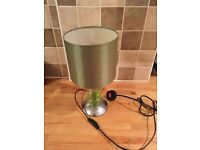 Green table lamp for bedside table