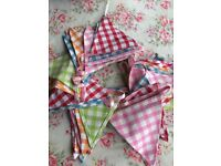 Gorgeous fabric bunting