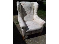 Wingback / Fireside / Parker Knoll style armchair - DELIVERY AVAILABLE