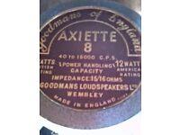 Goodmans 8 inch Loud-speakers Vintage 1950s? Axiette 16 ohm