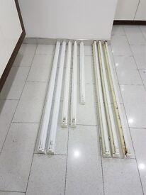 FLUORESCENT FITTING & TUBE LIGHT - T8 linear fluorescent batten - 6ft - 5ft - 4ft - 36w - 58w - 70w