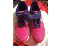 Girls pink trainers size 1