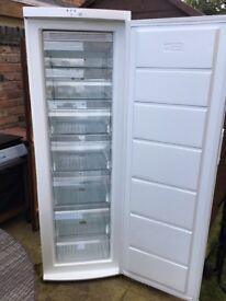 Freestanding Frigidaire FRCF185W freezer, white.