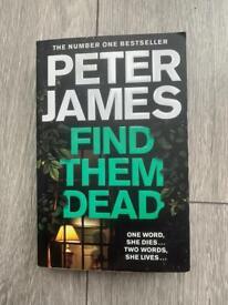 Peter James 'Find Them Dead' Book