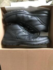 Mens steel toe anti static safety boots 12