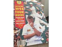 Official 1994 cricket tour guide
