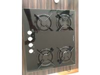 Black glass Electrolux hob with Wok burner