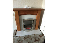 Oak Fire Place Fire Surround with Marble Hearth