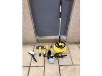 7 Karcher attachments. Patio cleaner, brush, sponge, foam, alloy & rotating