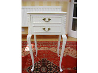 REFURBISHED - FRENCH CHIC - ORNATE CABINET WITH 2 DRAWERS (CAN DELIVER)