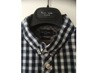 Blue and white check Paul Smith Jeans shirt
