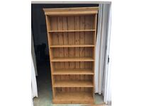 Large pine bookcase for sale