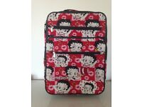 Betty Boop suitcase with 3 compartments