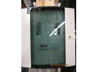 Hager - Invicta 3 - 125A TP&N Board 4 Way - Glazed Door, inc 125A main switch & mcb's